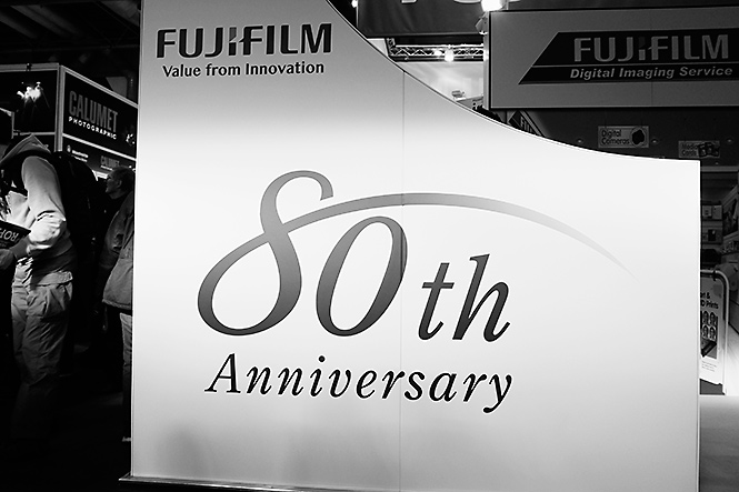 As Fujifilm is celebrating 80 years in photography, we thought we'd make a wee mention of it on our stand