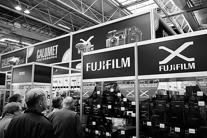 Calumet are one of the retailers that are here at The Photography Show and selling Fujifilm products