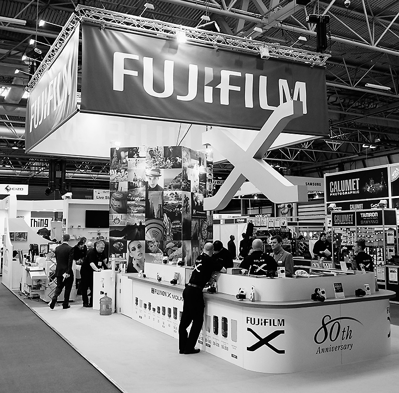 The Fujifilm stand. X certainly marks the spot