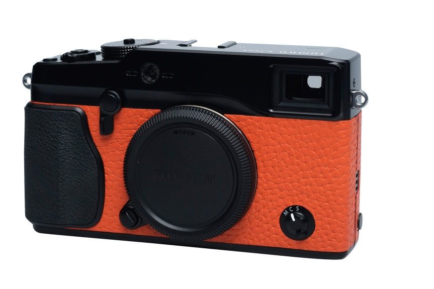 X-Pro1 in burnt orange