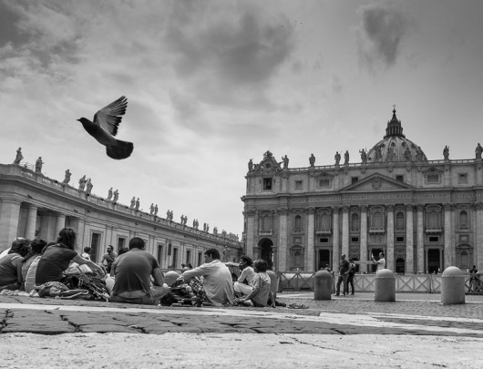 The Vatican, this is a heavy crop, but the quality remains. XF18-55mm, 1/80sec at f/10, ISO 200.