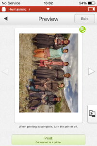 The Instax Share App. You can even add some text to the photos you print (not shown).