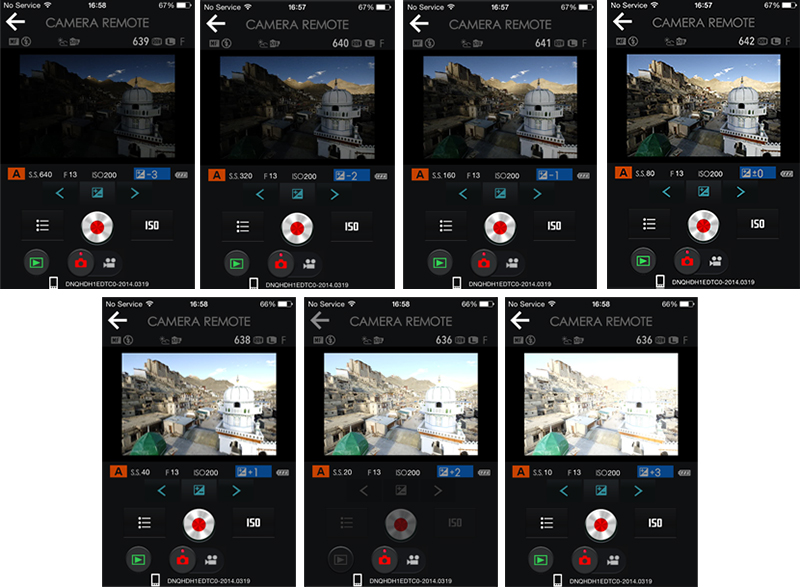 A super tip for HDR-lovers: use the exposure compensation on your Camare Remote App to get up to 7 bracketed shots, one stop apart, without touching your camera!