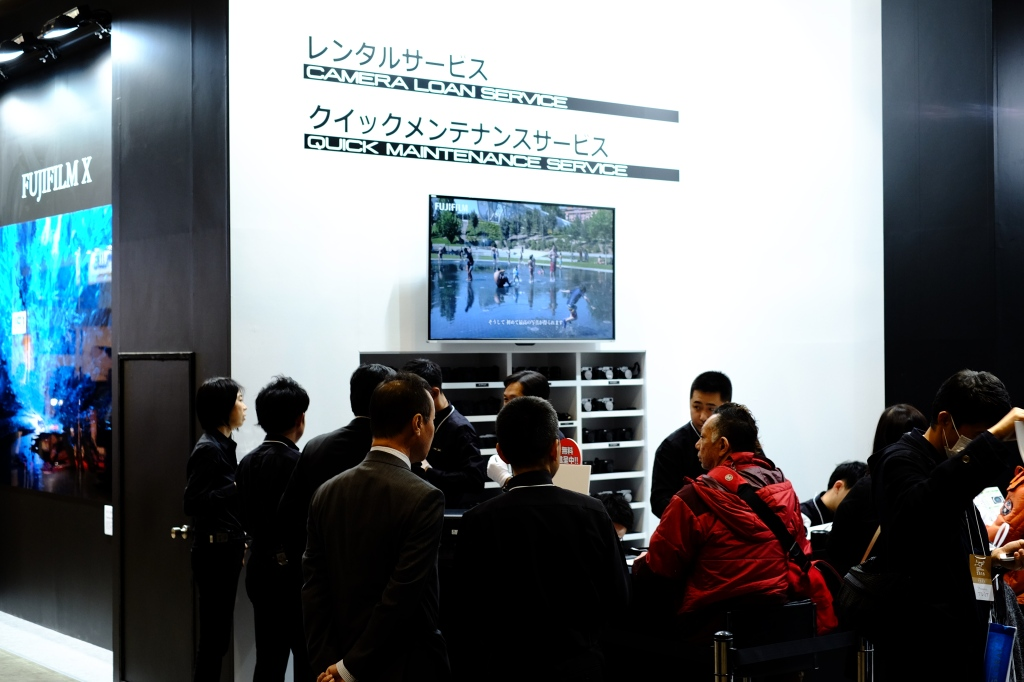 The Quick Maintenance service, that was amazingly popular at Photokina 2014, makes another appearance, much to the delight of many Fujifilm camera owners that were able to get a free sensor clean and camera check-up.