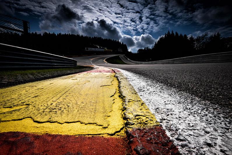 Around the track in Belgium