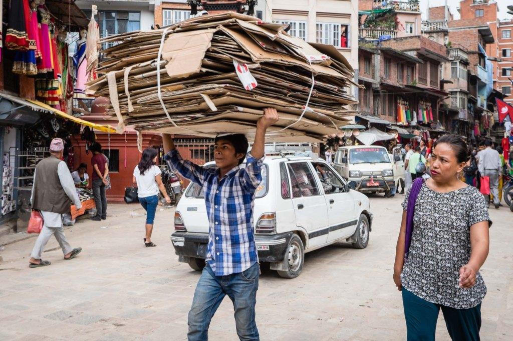 Rebuilding Nepal in Thamel, Kathmandu, Nepal.