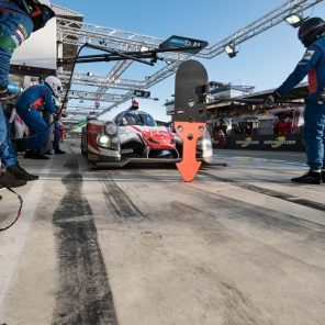 In the pitlane at the 24 Hours of Le Mans