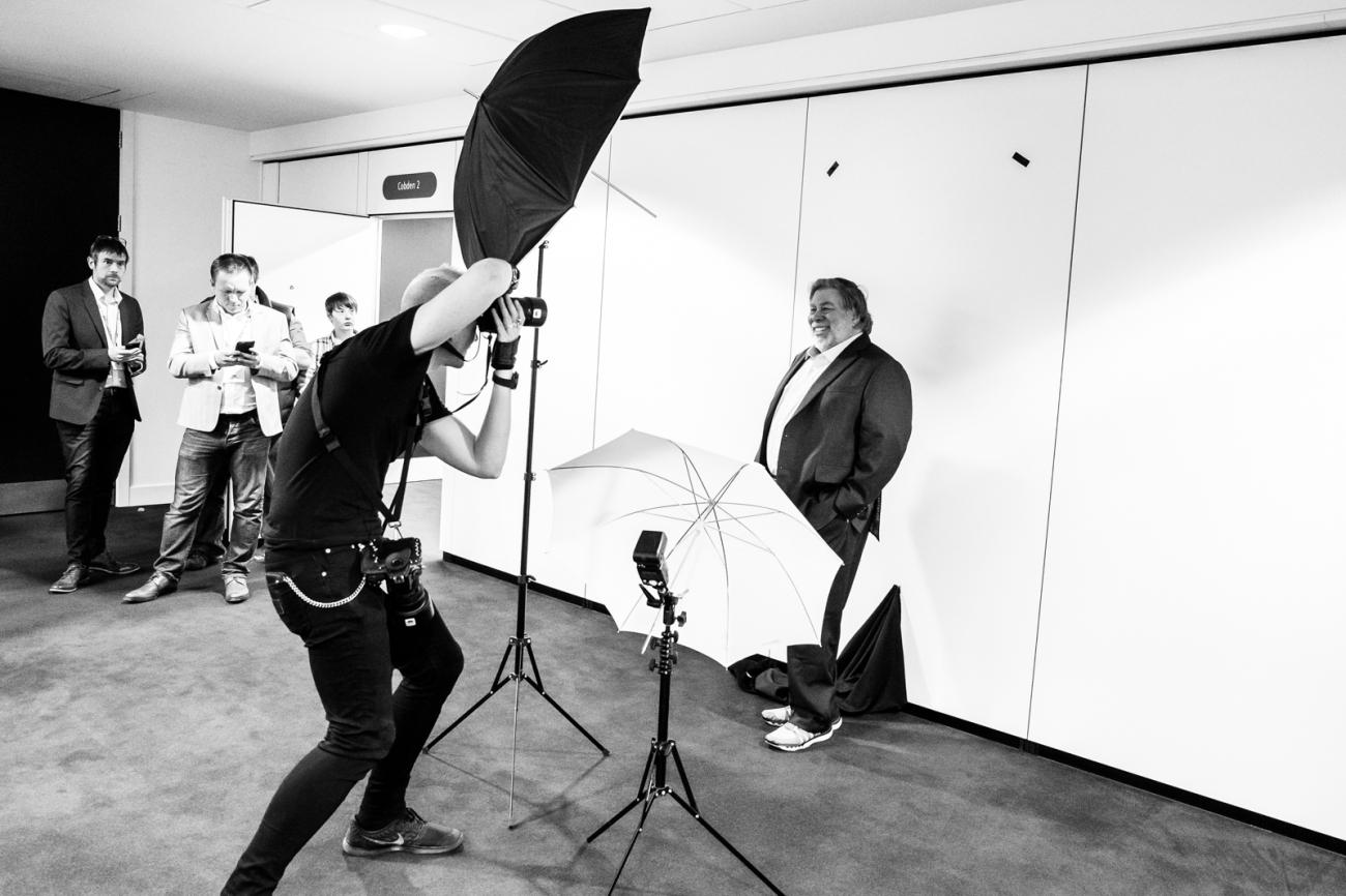 Dan Taylor and Steve Wozniak headshot  for Fujifilm - Image by Dan Taylor - dan@heisenbergmedia.com-1
