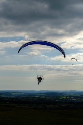 Sacha and Alexander flying over Dartmoor during a practise exercise. X-T2 and XF100-400mm