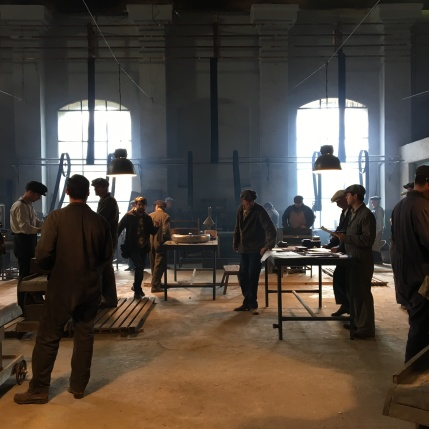 Actors on interior set