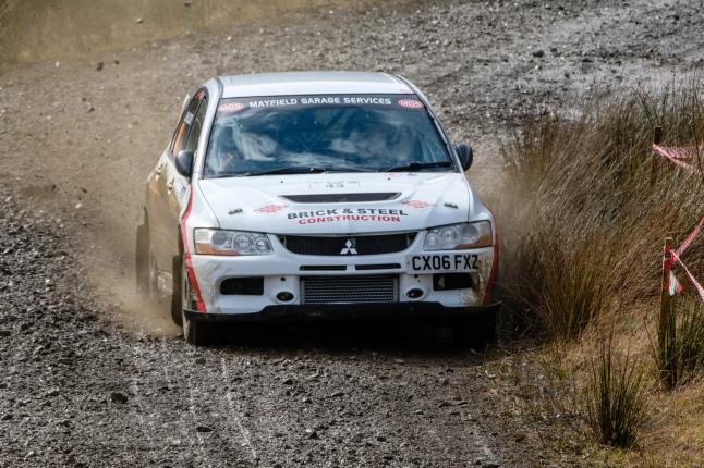 Border Counties Rally no43 John McClory / David Hood - Mitsubishi Evo IX