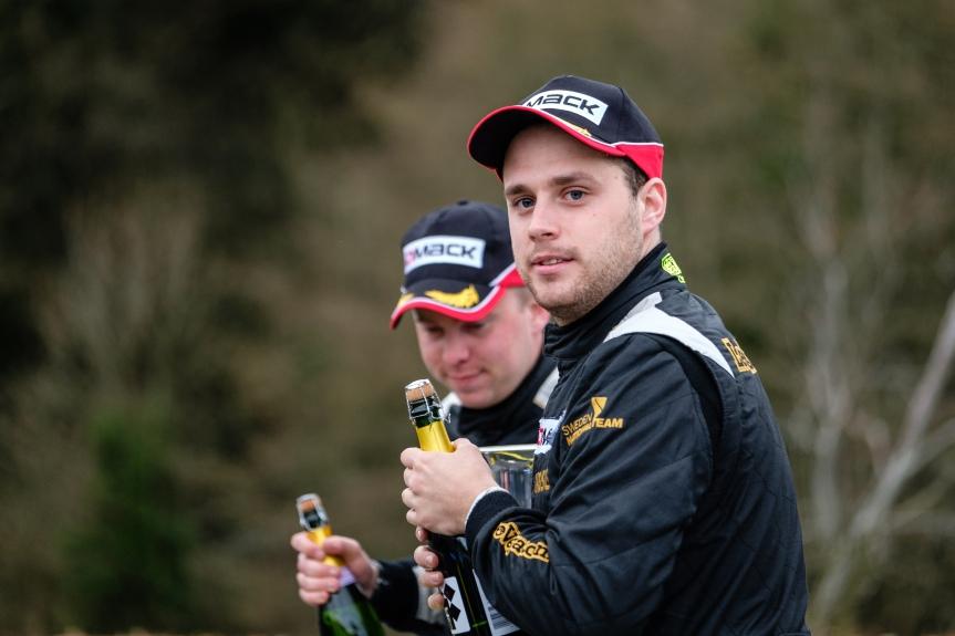 Border Counties Rally - British Rally Championship Podium no3 Fredrik Ahlin / Torstein Eriksen - Skoda Fabia RS